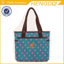 Fashionable canvas baby diaper mommy handbag , tote bag OEM brands