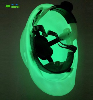 Luminous Glow In The Dark Safety Helmet Photoluminescent Helmet For Safety