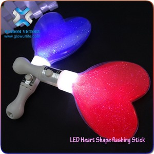 Hot sales Led Light Up Bang Bang Stick, Heart Led Glow Stick, Inflatable Led Cheering Fan Stick concert light stick