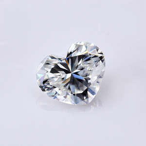 VVS Excellent Heart Moissanite Stone 8.0x10mm EF Clear White High Quality Synthetic Loose Gemstone
