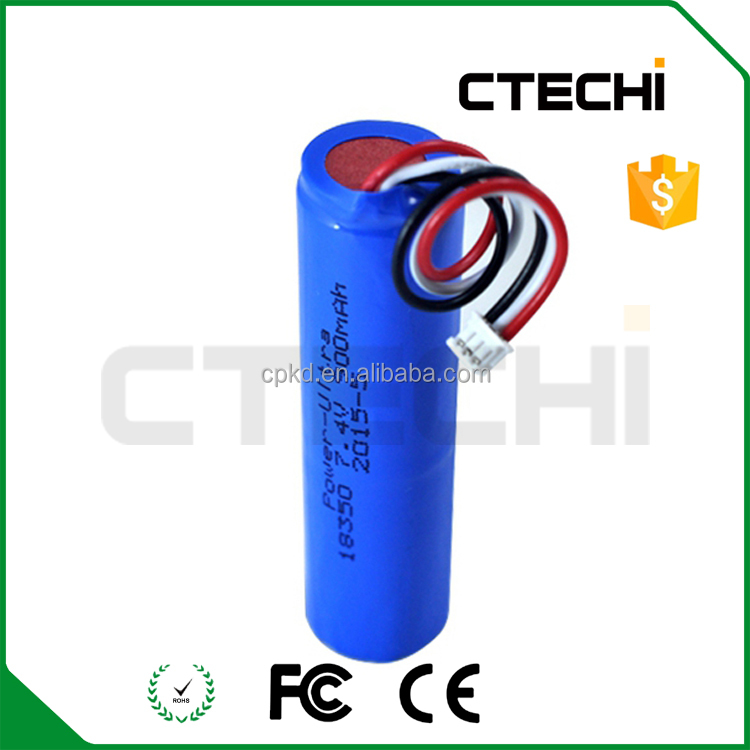 Rechargeable li-ion battery 18350 PCB protect
