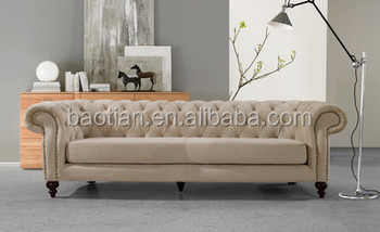 Chesterfield sofa samt  Living Room Furniture Hot Sell Chesterfield Sofa - Buy ...