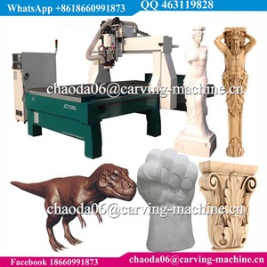 1325 1530 5D 4D 3D EPS Foam Wood Column Sculpture Carving ATC CNC Machine With 4 Axis Rotary, Styrofoam 4 Axis CNC Router Price