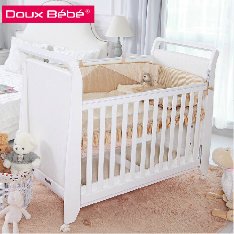 Baby cot bed prices cost-effective, movable modern wooden cot design