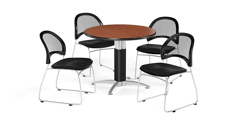 OFM PKG-BRK-175-0016 Breakroom Package, Cherry Table/Black Chair