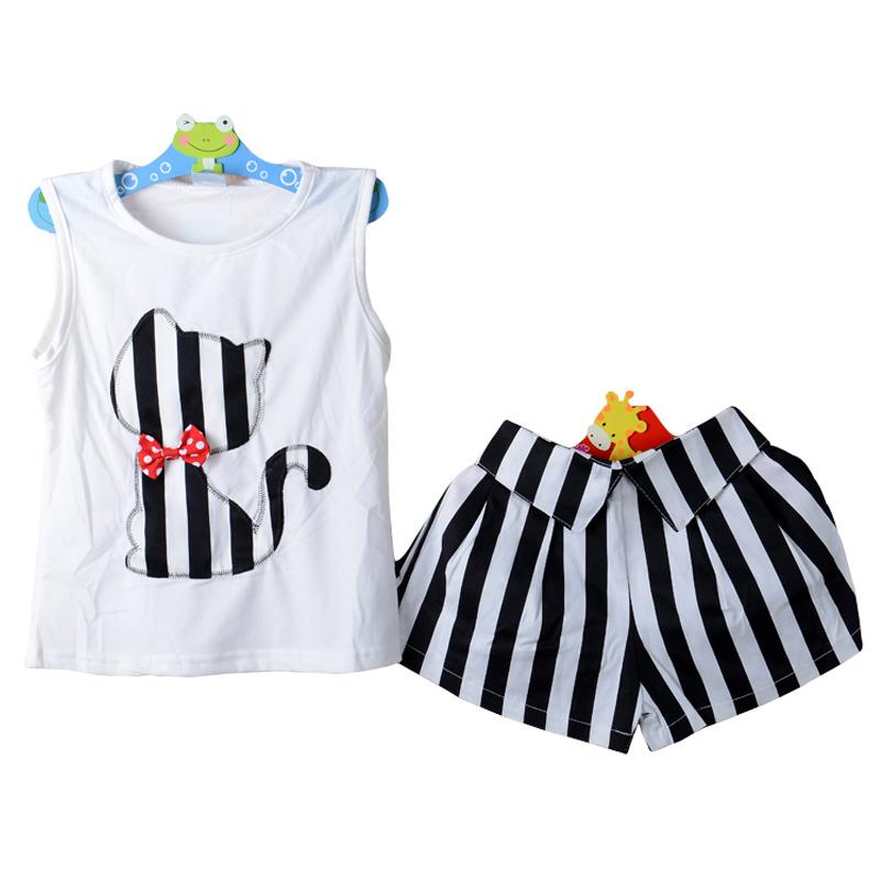 2015 NEW Baby Girl Summer Clothing Sets Girl s T Shirt Short Pants Suits Kids Sets
