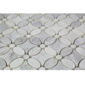 Oriental White Marble Mosaic Flower Floor Tiles View Century Product Details From Qingdao Import