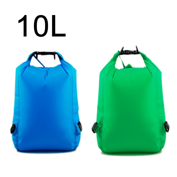 UltraLight Nylon 10L Dry Sack with silicone-coated