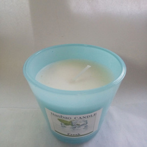 colored non-toxic scented horn cup glass jar candles in bulk