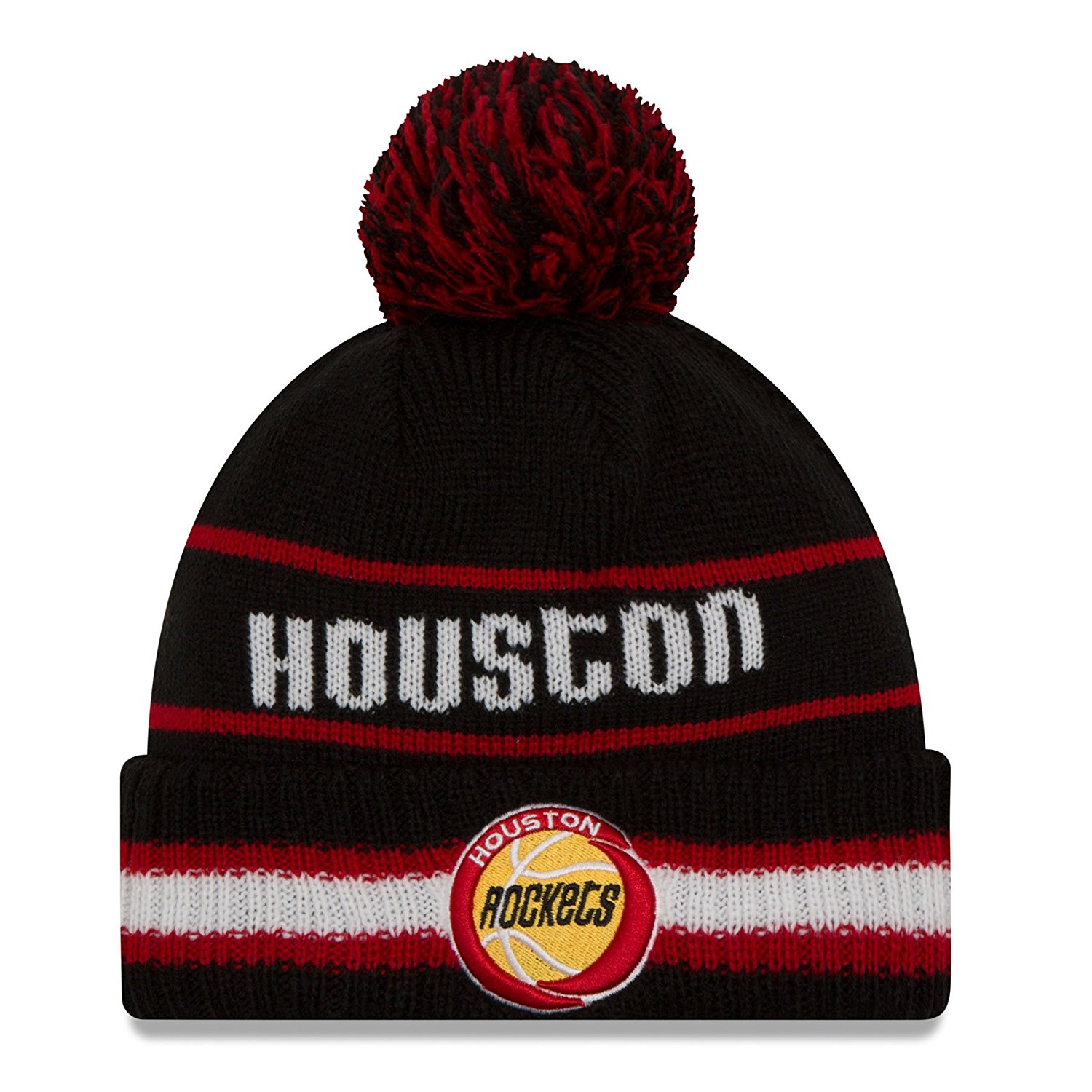 307c6966 Get Quotations · Houston Rockets New Era NBA Cuffed Vintage Select Pom Knit  Hat
