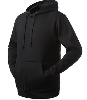 1eb4efc50 Custom Wholesale Blank Black Hoodies Men Cheap Sports Plain Hoodies ...