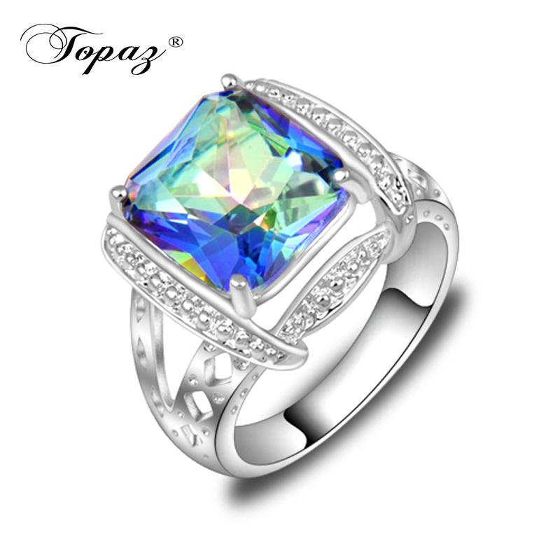 Free Shipping High Quality Jewelry Rainbow Mystic Topaz