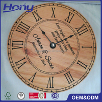New Brand Home Decoration Round Big Size Wooden Wall Clock with Custom Modern and Vintage Design