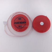 Round shape plastic advertsing retractable body tape measure