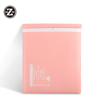 eco friendly custom logo design self seal adhesive pink small size poly bubble mailer envelopes padded packing bags for garment