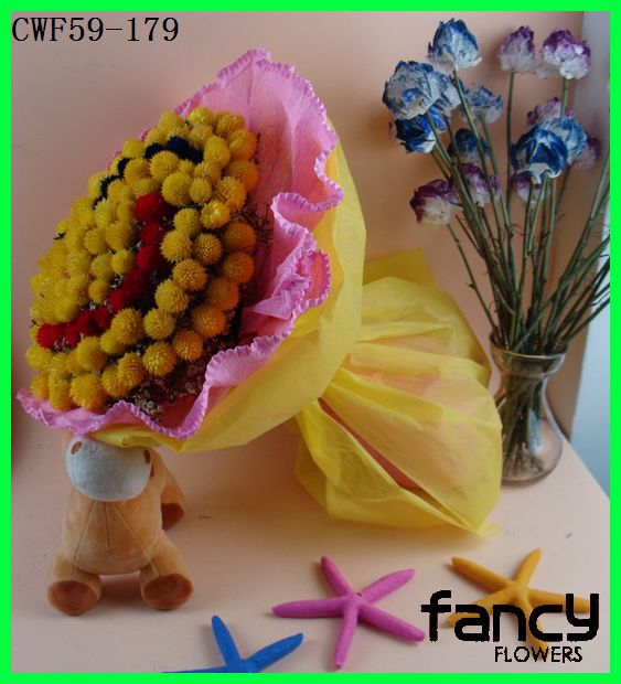 New product sweet smile artificial dried flowers for gift christmas decorations bouquet for sale