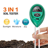 3 in 1 Plant Soil PH Meter Tester Soil Moisture PH Light Meter for Plants Crops Flowers Vegetable