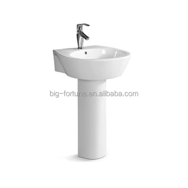Modern pedestal sink two piece bathroom hand wash basin price