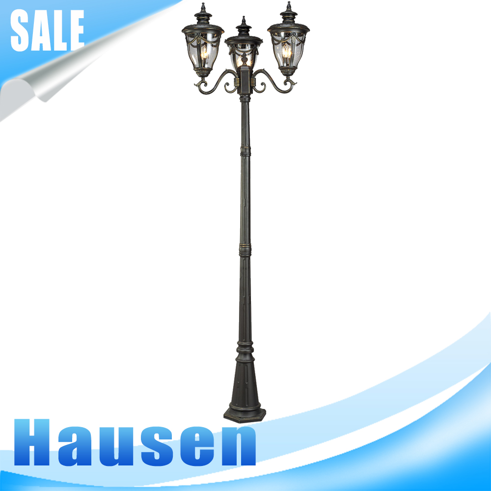 European style old fashion led street light for garden and project use (SG0515-3-M)