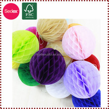Xmas honeycomb paper decorations ball for ornament