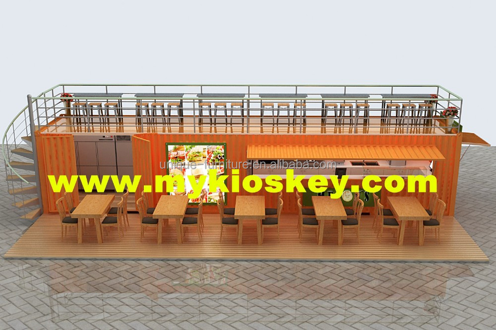 40FT shipping container coffee shop fast food container kiosk