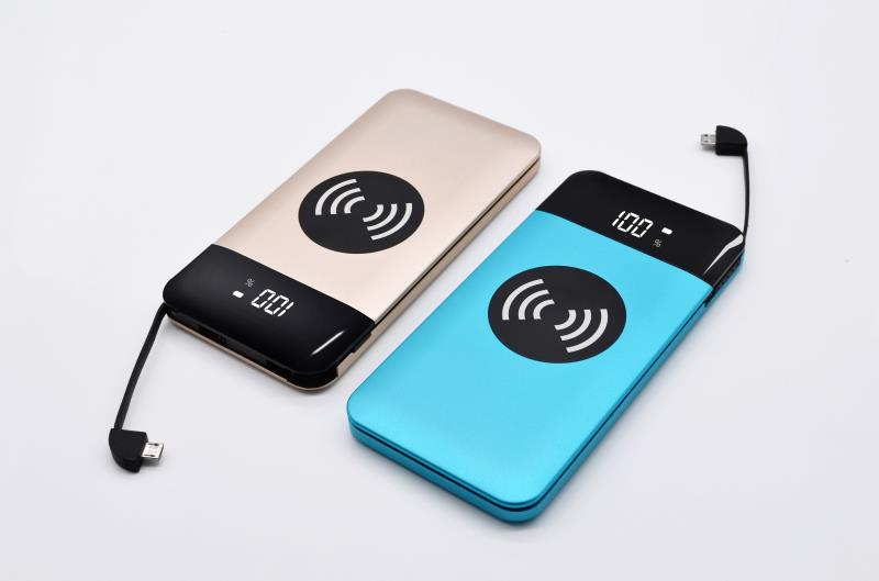 2018 New !  Alibabas Best Sellers Private Mold Multifunctional Ultra Slim Qi Wireless Charger Portable Wireless Power Bank