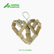 home hanging heart shape decoration driftwood material