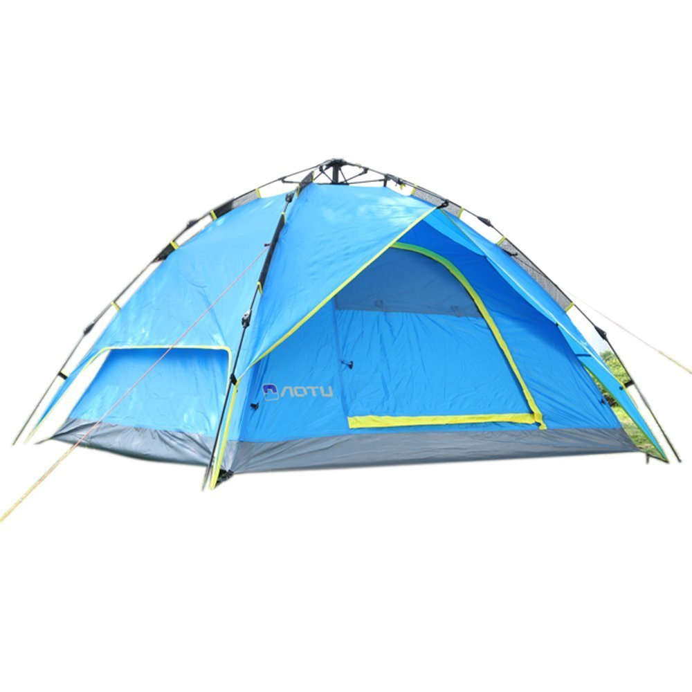 Z ZTDM 3-4 Person Dome Tent Double Layer Double Wall Family Tent with Carry Bag for Camping Hiking Travel and More can be used as Shield Sun Shade Canopy