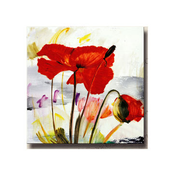 Beautiful Handpaint Red Poppy Canvas Painting Beautiful Flower Oil Canvas Art For Living Room Decor Buy Canvas Flower Oil Painting Single Flower