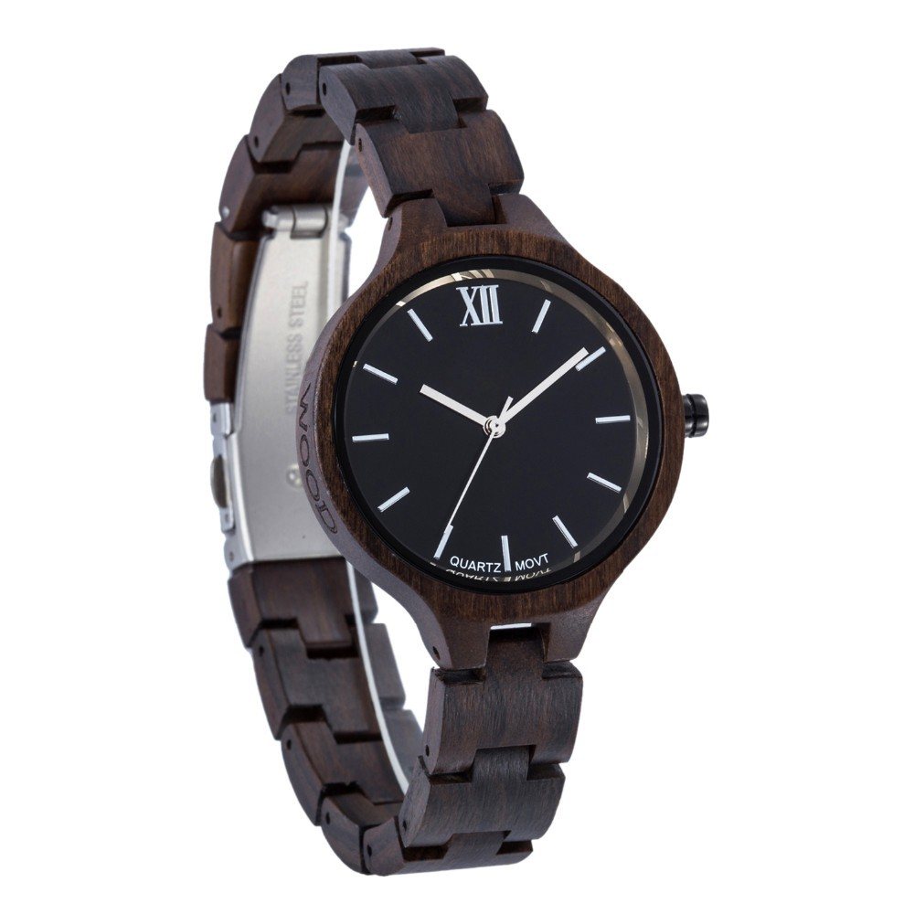 small size lady fashion wood watch good quality and cheap hot selling wood watch for women