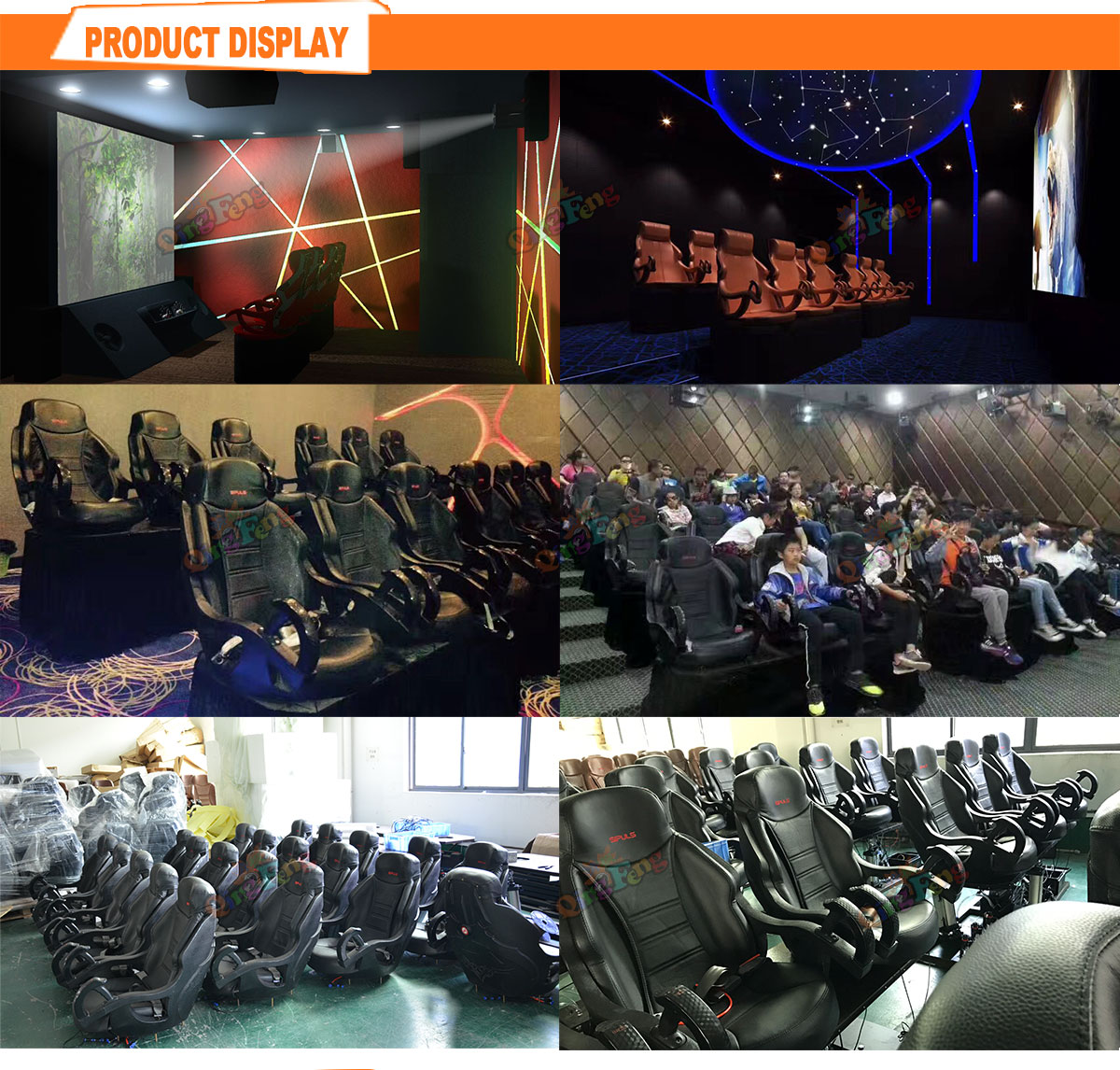 Qingfeng high quality 12d 9d egg vr 7d 5d cinema equipment 9 seats vr chair 5d cinema