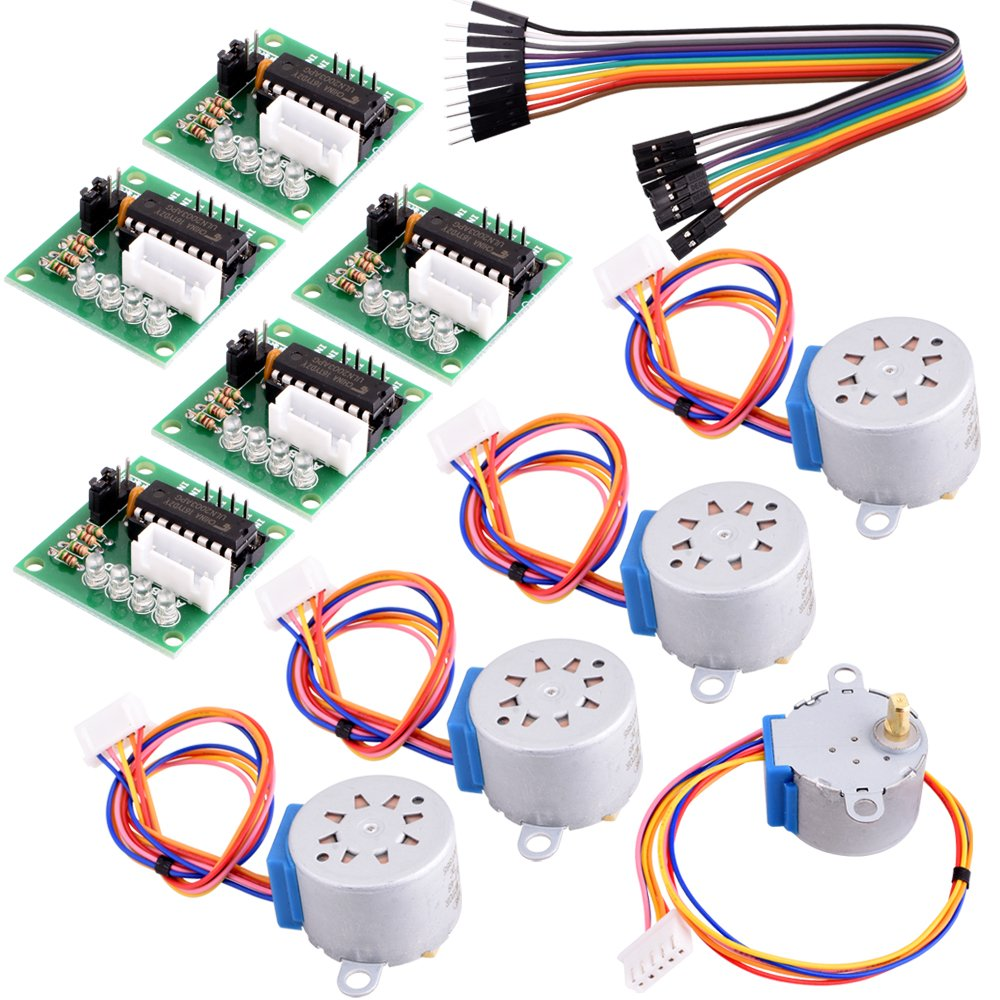 Buy Longruner 5x Geared Stepper Motor 28byj 48 Uln2003 5v Power Supply For Drive A May Driver Board Arduino