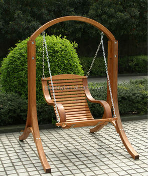 Garden Wooden Swing Chair Single Seat Buy Garden Wooden Swing