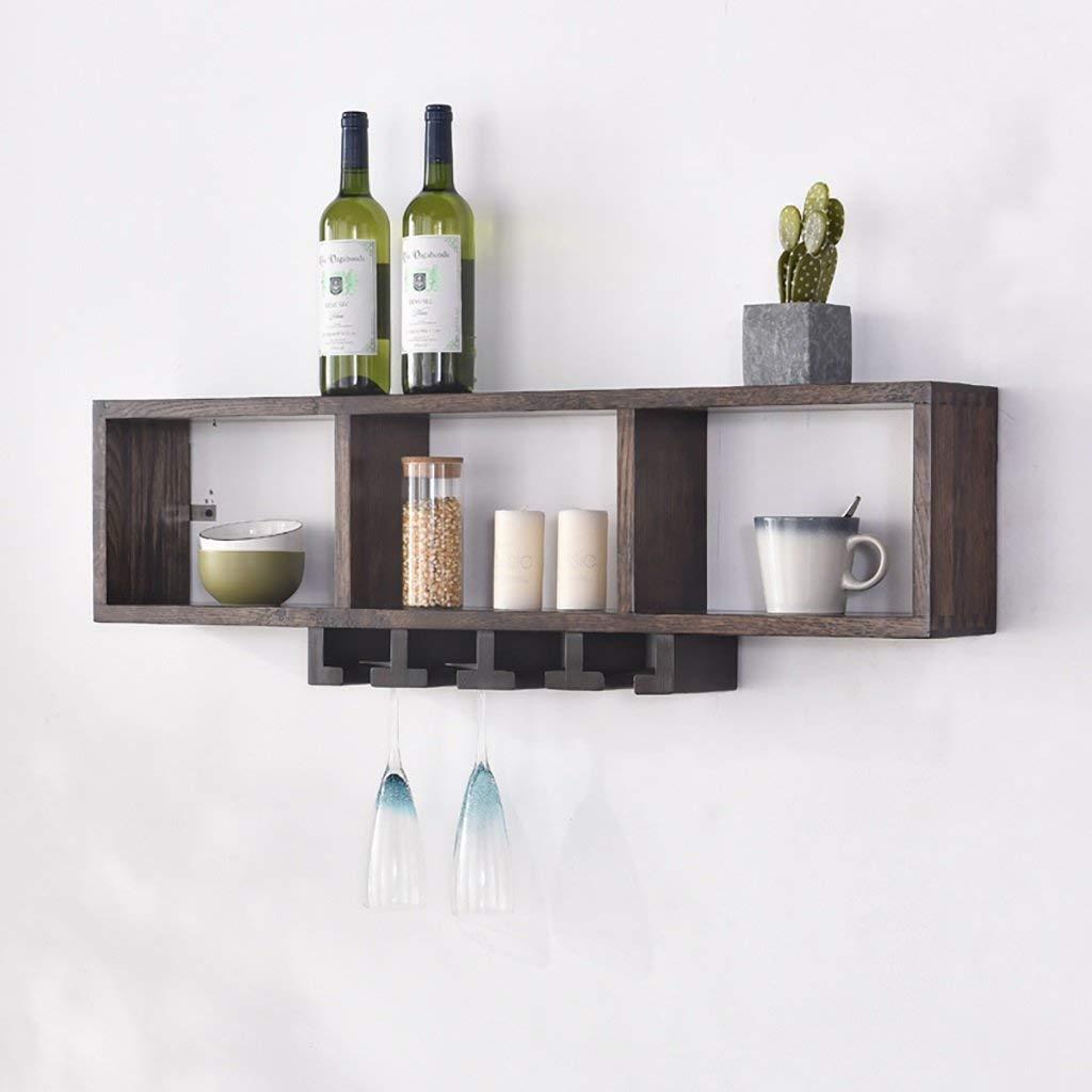 Gspsgj Solid Wood White Oak Wine Rack Wall-Mounted, Simple Modern Living Room Wall Racks Storage Nordic (Color : B)