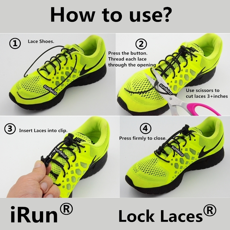 How To Lace Elastic Shoe Laces Asics