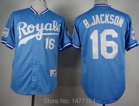 new concept 72093 ac8db Baseball Discount On Royals Bo Blue Jerseys 2019 Jersey Sale ...