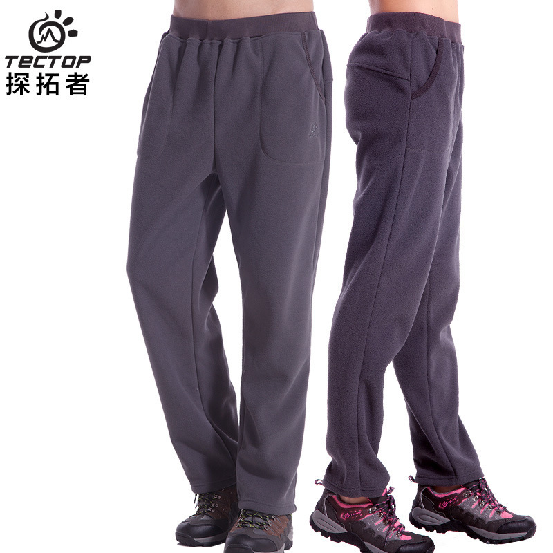 Outdoor Sport Running Polar Fleece Pants Women&Men Thermal Thick Pesca Autumn Winter Casual Warm Hiking&Camping TECTOP Trousers