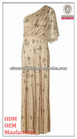 lady/girl elegant/graceful evening dress/one shoulder shiny beaded floor length christmas dresses