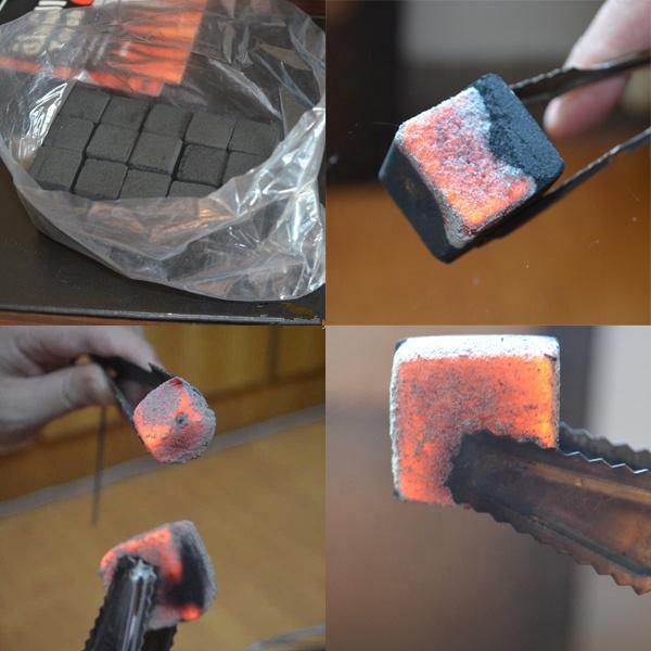 HQHC0025 Hong Qiang Free Samples Cocobrico Cube Charcoal Coconut Shell Hookah Charcoal for Shisha