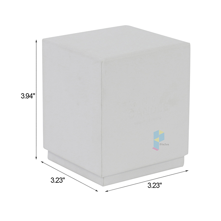 custom plain white rigid gift packaging boxes for candles