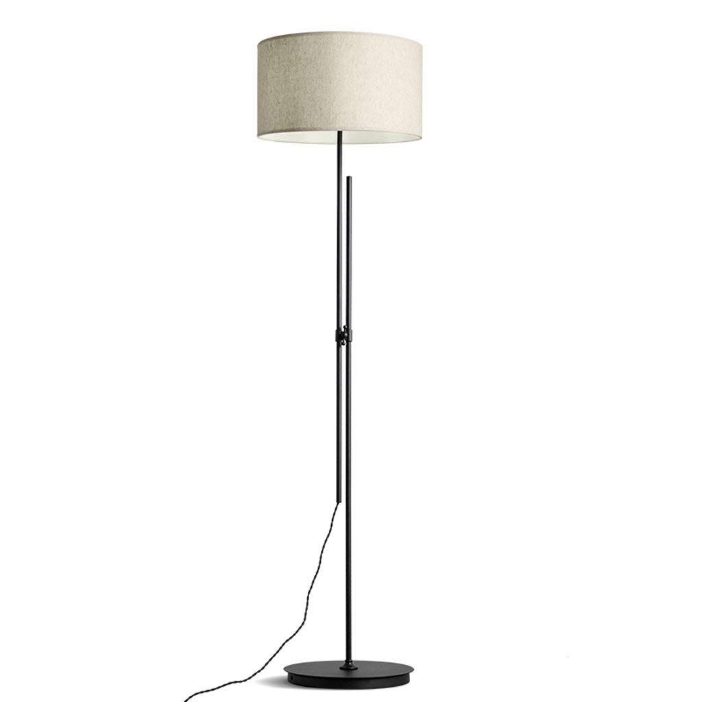 "Long Arm Adjustable Floor Lamp, Iron Lamp Holder, Fabric Lampshade, Height 70.92"", Black, Living Room Bedroom Bedside Warm Vertical Table Lamp"