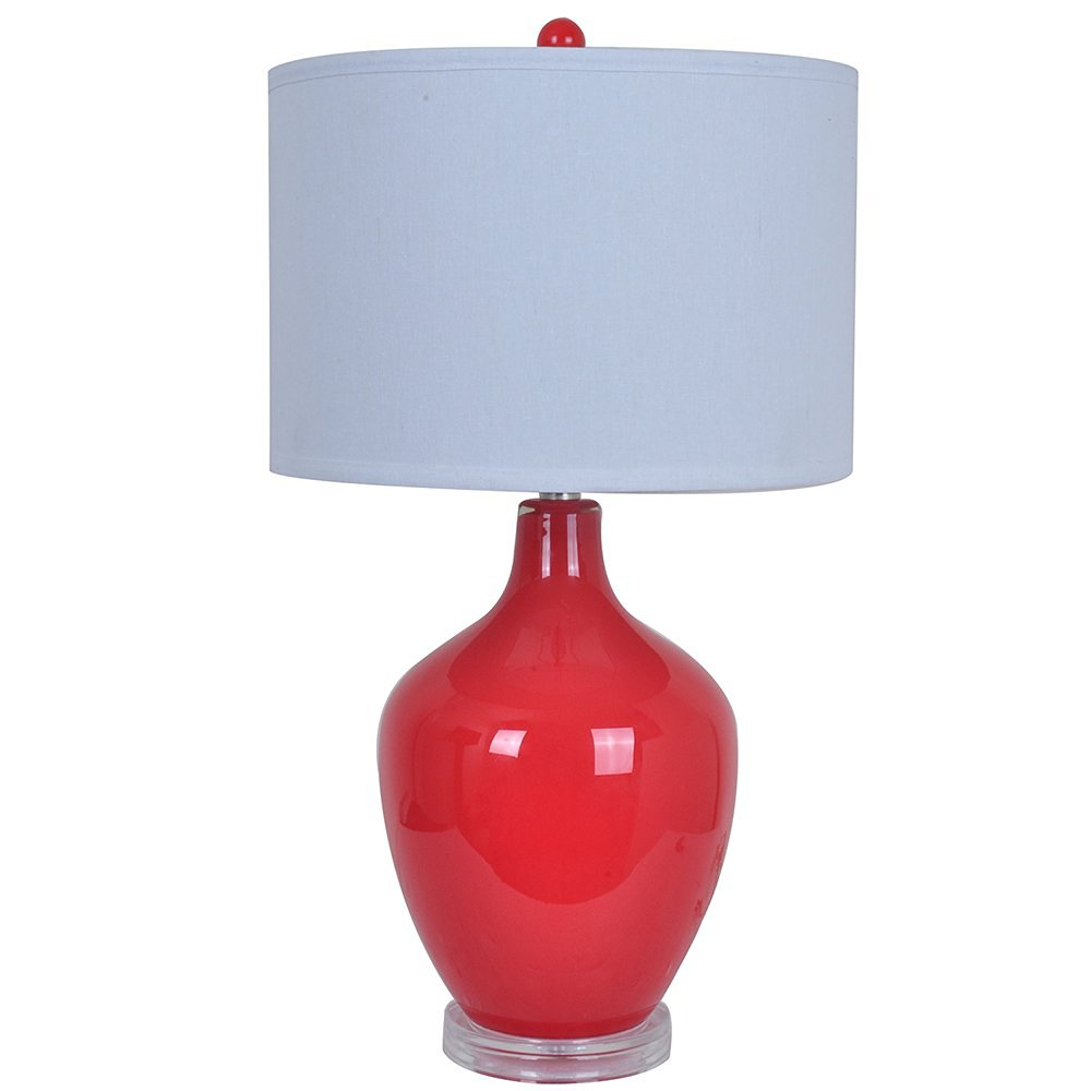 Cheap small red table lamp find small red table lamp deals on line get quotations crestview collection avery glass table lamp red aloadofball Choice Image