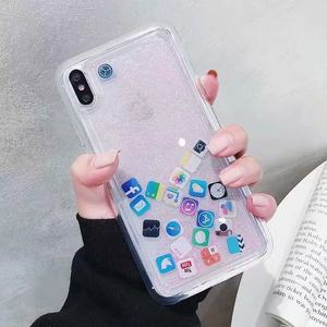 2019 cute design case New Luxury Liquid Quicksand Shiny Mobile Phone Case for iPhone XS XR XS Max