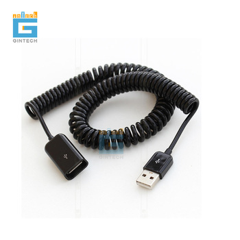 3 m telescopic USB male to female extension cable USB spring cable USB2.0 male extension cable