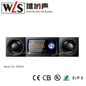 2018 portable speakers with bass PM-301 mini combo with mini hifi digital media player
