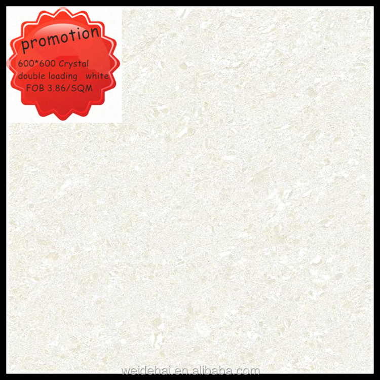 alibaba india 600*600 polished porcelain white crystal floor tiles and marbles