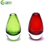 European green color cylindrical terrarium crystal glass flower vase for home decoration