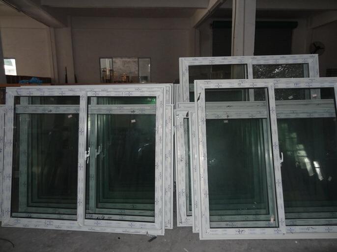 UPVC/PVC Window PVC door house construction Glass Til-turn