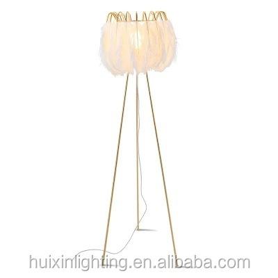 Modern interior triangle feather floor lamp