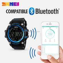 2017 multi functions low price skmei 1227 bluetooth smartwatch pedometer camera remote waterproof saat wristwatch for men